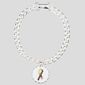 Thank A Soldier Ribbon Charm Bracelet, One Charm