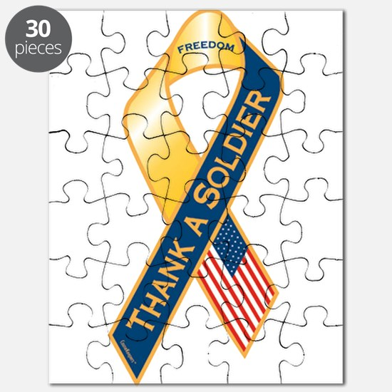 Thank A Soldier Ribbon Puzzle