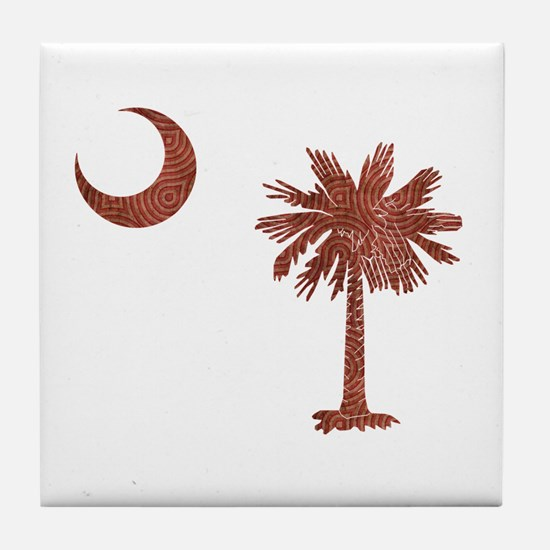 Palmetto & Cresent Moon Tile Coaster