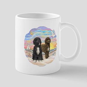 OceanSunrise-2PWD-brn+blk Mug