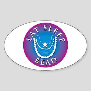 Eat Sleep Bead Oval Sticker