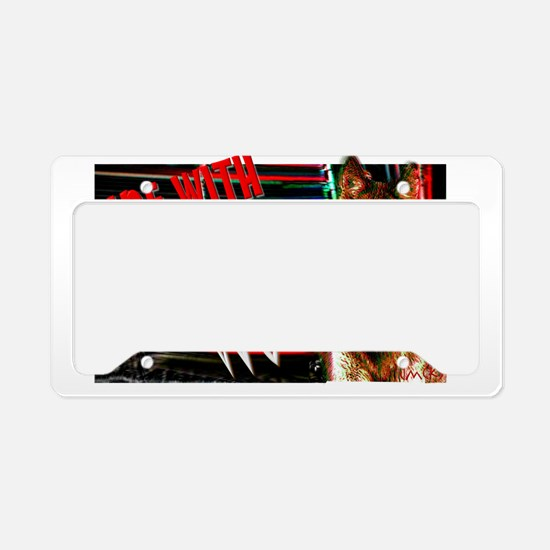 ride with the wolf License Plate Holder