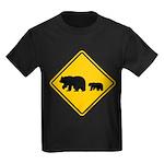 Bear Migration CA Kids Dark T-Shirt