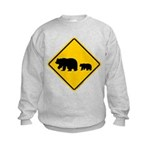 Bear Migration CA Kids Sweatshirt