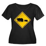 Bear Migration CA Women's Plus Size Scoop Neck Dar