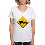 Bear Migration CA Women's V-Neck T-Shirt
