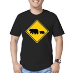 Bear Migration CA Men's Fitted T-Shirt (dark)