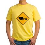 Bear Migration CA Yellow T-Shirt