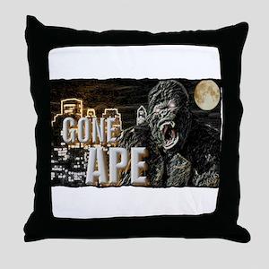 gone ape Throw Pillow