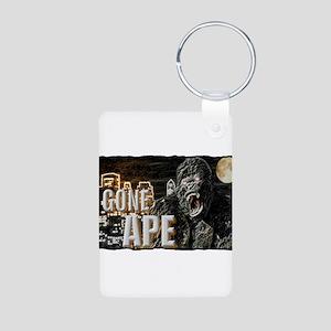 gone ape Aluminum Photo Keychain
