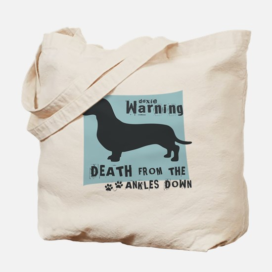 Doxie Warning Tote Bag