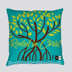 Rooted In Christ Tree Everyday Pillow