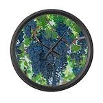 Grapes As Art Large Wall Clock