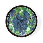 Grapes As Art Wall Clock