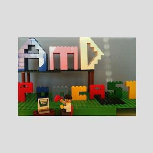 AMD Lego Logo Rectangle Magnet