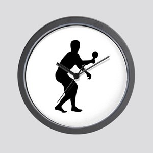 Table tennis player Wall Clock