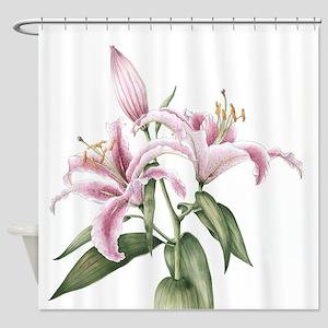 Stargazer Lily Shower Curtains