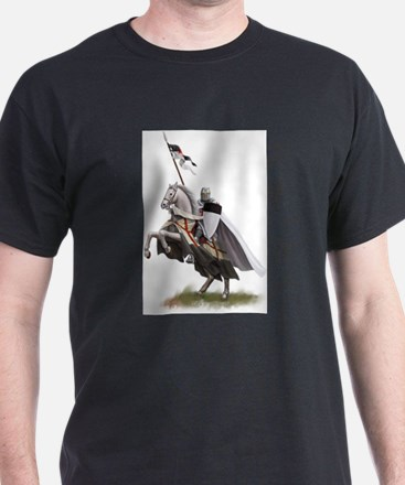 templar on rearing horse coloured digi T-Shirt