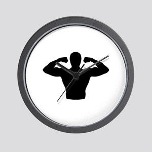 Bodybuilding muscles Wall Clock