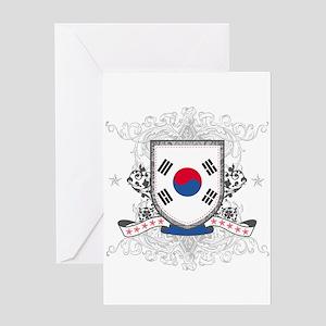 Korea Shield Greeting Card