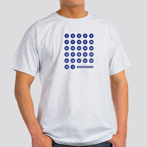 Marathon Numbers Blue Light T-Shirt