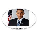 Custom Photo Design Sticker (Oval)
