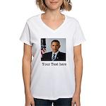 Custom Photo Design Women's V-Neck T-Shirt