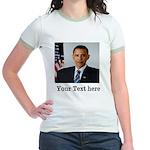 Custom Photo Design Jr. Ringer T-Shirt