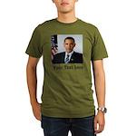 Custom Photo Design Organic Men's T-Shirt (dark)