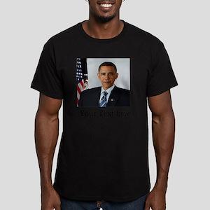 Custom Photo Design Men's Fitted T-Shirt (dark)