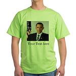 Custom Photo Design Green T-Shirt