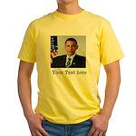 Custom Photo Design Yellow T-Shirt