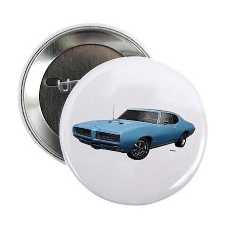 """1968 GTO Alpine Blue 2.25"""" Button"""