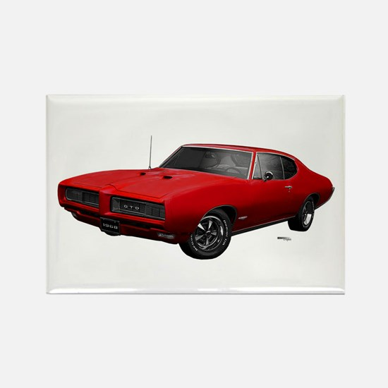1968 GTO Solar Red Rectangle Magnet
