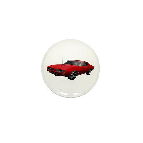 1968 GTO Solar Red Mini Button