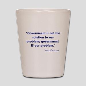 Ronald Reagan Government Quot Shot Glass