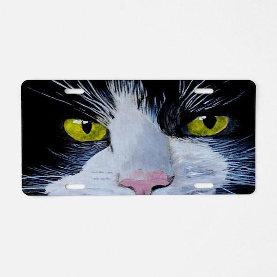 Tuxedo Cat Aluminum License Plate