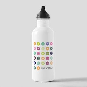 Marathon Numbers Pastel Stainless Water Bottle 1.0