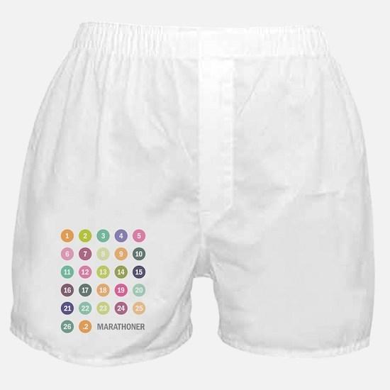 Marathon Numbers Pastel Boxer Shorts