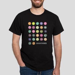 Marathon Numbers Pastel Dark T-Shirt