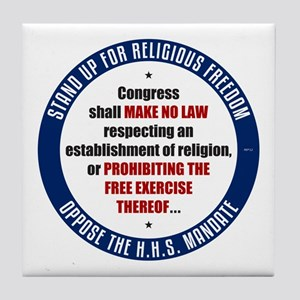 Oppose The HHS Mandate Tile Coaster