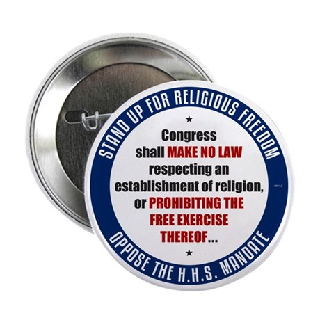 "Oppose The HHS Mandate 2.25"" Button (10 pack)"
