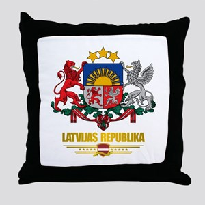 """Latvia COA"" Throw Pillow"