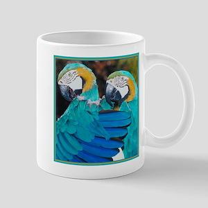 Turquoise Parrots Mug
