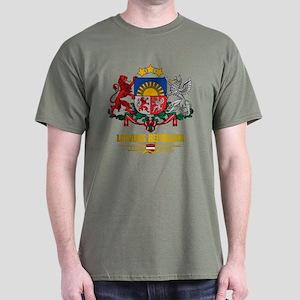 """""""Latvia COA"""" Dark T-Shirt"""