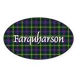 Tartan - Farquharson Sticker (Oval)