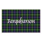 Tartan - Farquharson Sticker (Rectangle)