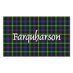 Tartan - Farquharson Sticker (Rectangle 50 pk)