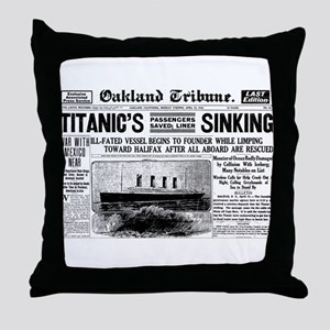 Passengers Saved, Liner Sinking Throw Pillow