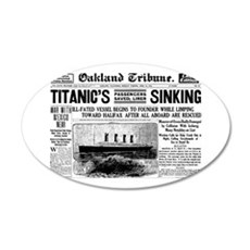 Passengers Saved, Liner Sinking 22x14 Oval Wall Pe